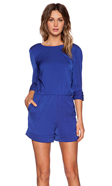 BLAQUE LABEL V-Back Romper in Blue