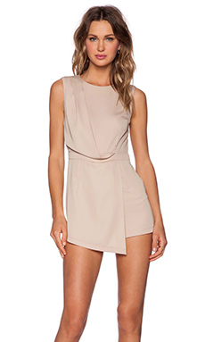 BLAQUE LABEL Faux Wrap Romper in Sand