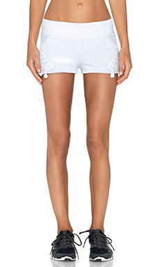 BLANC NOIR Boxing Short in White