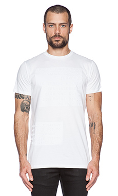 Blood Brother Letter Tee in White