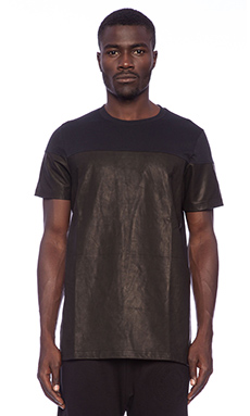 Blood Brother Tropp Leather Tee in Black