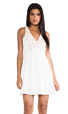 bless'ed are the meek Snake Charm Dress in Ivory