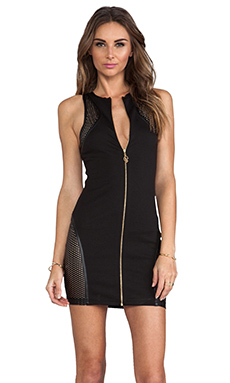 bless'ed are the meek Shell Dress in Black