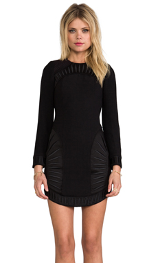 bless'ed are the meek Palm Dress in Black