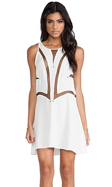 bless'ed are the meek Fine Line Dress in Ivory