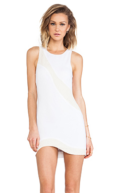 bless'ed are the meek Splice Dress in Ivory & Nude