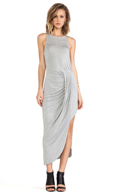 bless'ed are the meek Flow Dress in Grey Marle
