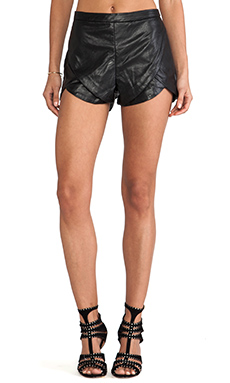 bless'ed are the meek Half Moon Short in Black