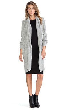 bless'ed are the meek Cross Hatch Cardigan in Grey Marble