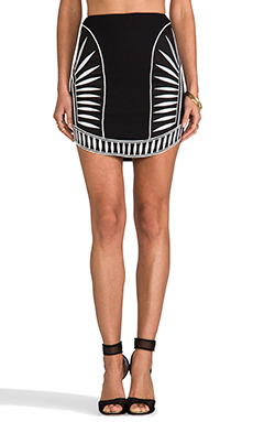 bless'ed are the meek Contrast Skirt in Black/Ivory