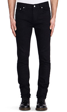 BLK DNM Jeans 5 in Baruch Black