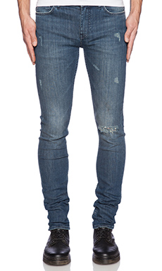 BLK DNM Jeans 25 in Frost Blue