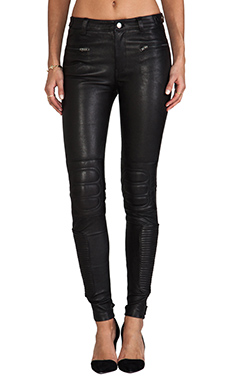 BLK DNM Leather Pant 6 in Black