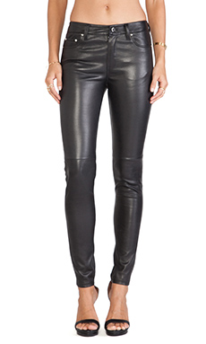 BLK DNM Leather Pant 22 in Black