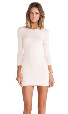 BLQ BASIQ Long Sleeve Dress in Rosee