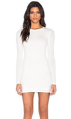 BLQ BASIQ Long Sleeve Dress in White