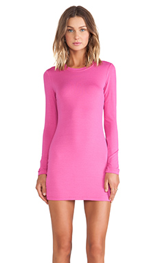 BLQ BASIQ Long Sleeve Dress in Pink