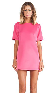 BLQ BASIQ Short Sleeve Dress in Samantha Pink