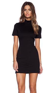BLQ BASIQ Turtleneck Mini Dress in Black