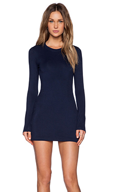 BLQ BASIQ Mini Dress in Navy