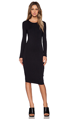 BLQ BASIQ Longsleeve Dress in Black