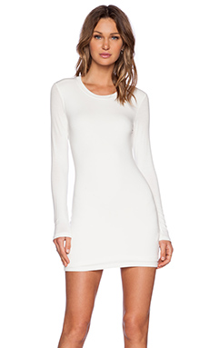 BLQ BASIQ Longsleeve Mini Dress in White
