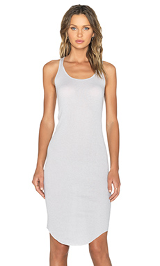 BLQ BASIQ Racer Back Dress in Silver