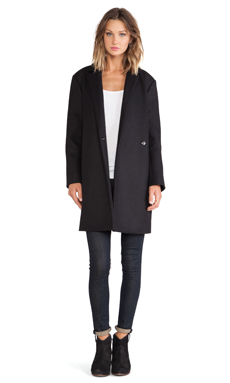 BLQ BASIQ Long Coat in Black