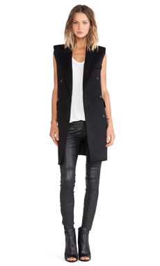 BLQ BASIQ Sleeveless Jacket in Black