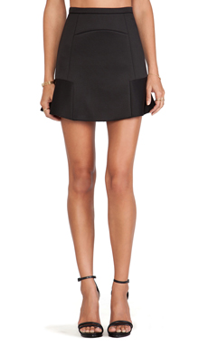 BLQ BASIQ Fit & Flare Skirt in Black
