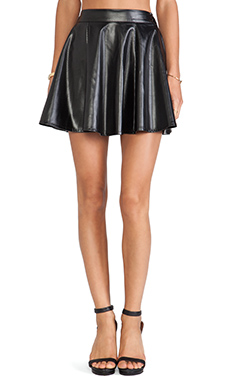 BLQ BASIQ Faux Leather Mini Skirt in Black