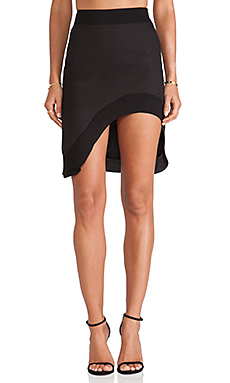BLQ BASIQ High Waisted Skirt in Black