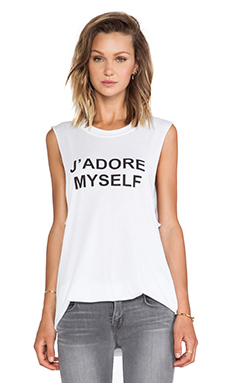 BLQ Basics J' Adore My Self Graphic Tank in White