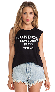LONDON NEW YORK MUSCLE TEE