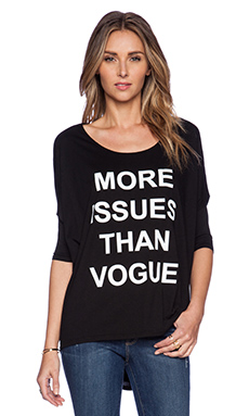 BLQ BASIQ More Issues than Vogue Tee in Black