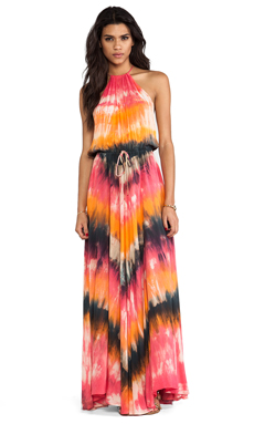 Blue Life Huntress Dress in Safari Sunset