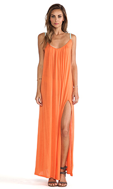Blue Life Festival Maxi Dress in Coral
