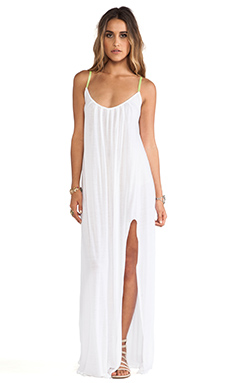 Blue Life Festival Maxi Dress in White