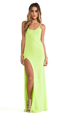 Blue Life Summer Nights Tank Dress in Lime
