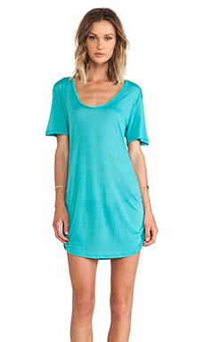 Blue Life Festival T-Shirt Dress in Mint