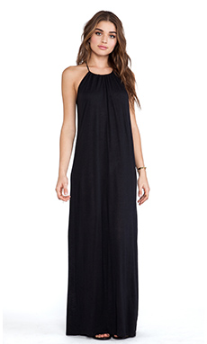 Blue Life Halter Maxi Dress in Black