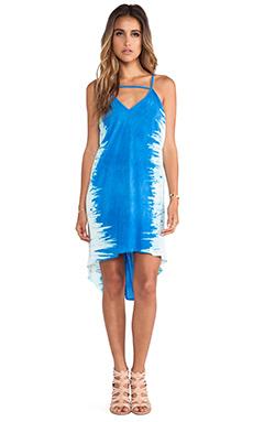 Blue Life Slouchy Side Drape Dress in Electric Blue