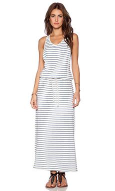 Blue Life Cali Dream Maxi Dress in Indigo Stripe