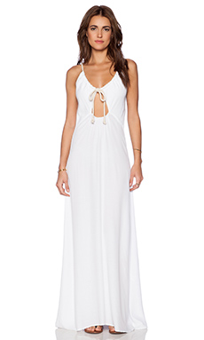 Blue Life Rope Maxi Dress in White