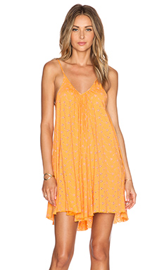 Blue Life Slip Cami Dress in Tangerine