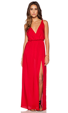 Blue Life High Tide Maxi Dress in Red