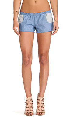 Blue Life Americana Chambray Shorties in Denim