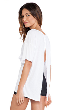 Blue Life Fit Open Back Best Bum Tee in White