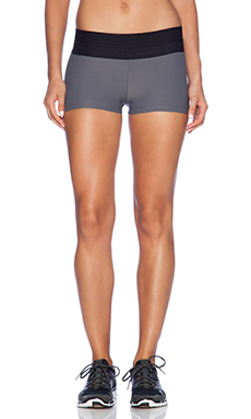 Blue Life Fit Silhouette Yoga Short in Grey