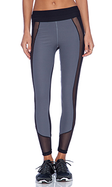 Blue Life Fit Contrast Legging in Grey & Black